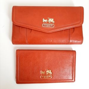 Coach Continental Wallet with a Check Book Insert